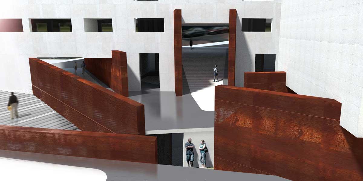 """Questo progetto, """"segnalato"""" nel concorso Prix W 2010, affronta la riabilitazione urbana degli ex depositi degli Archivi Nazionali Francesi."""