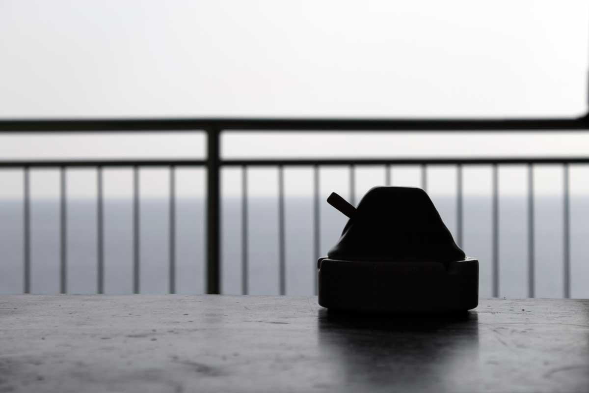 Portacenere progettato e realizzato in Liguria